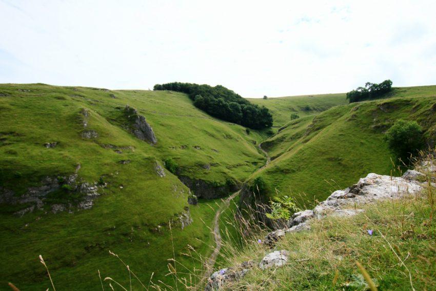 Widok z gory na Cave Dale