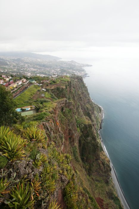 Cabo Girao, widok z tarasu widokowego