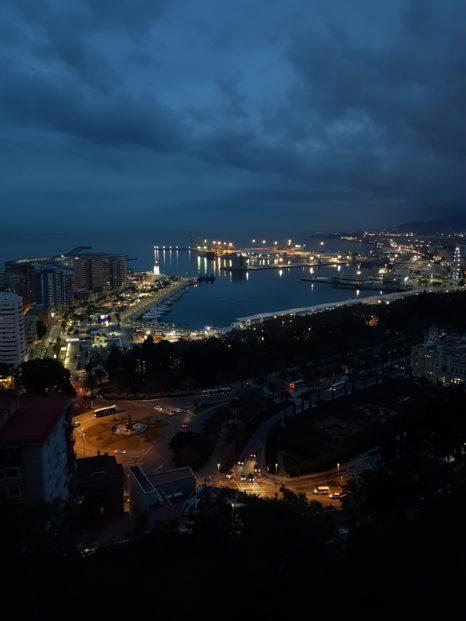 Widok z punktu widokowego w Maladze