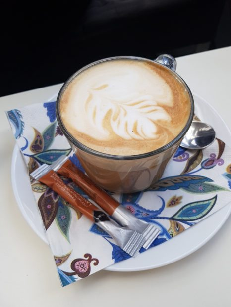 Latte z syropem waniliowym :)