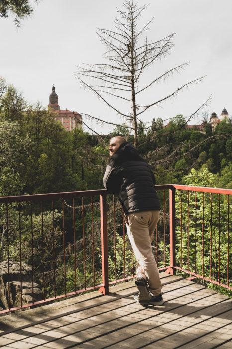 Jeden z punktów widokowych na Zamek w Książu