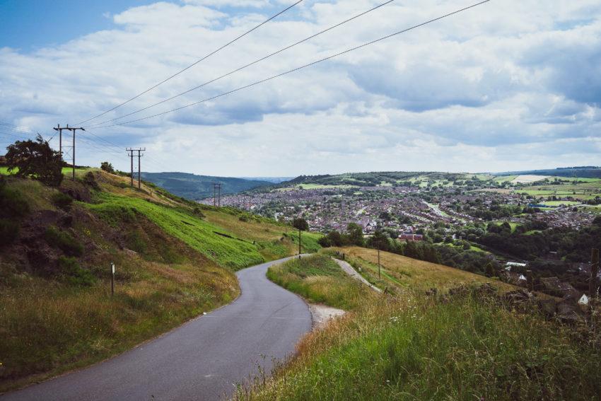 Widok na Stockbridge - w drodze do Underbank Resorvoir