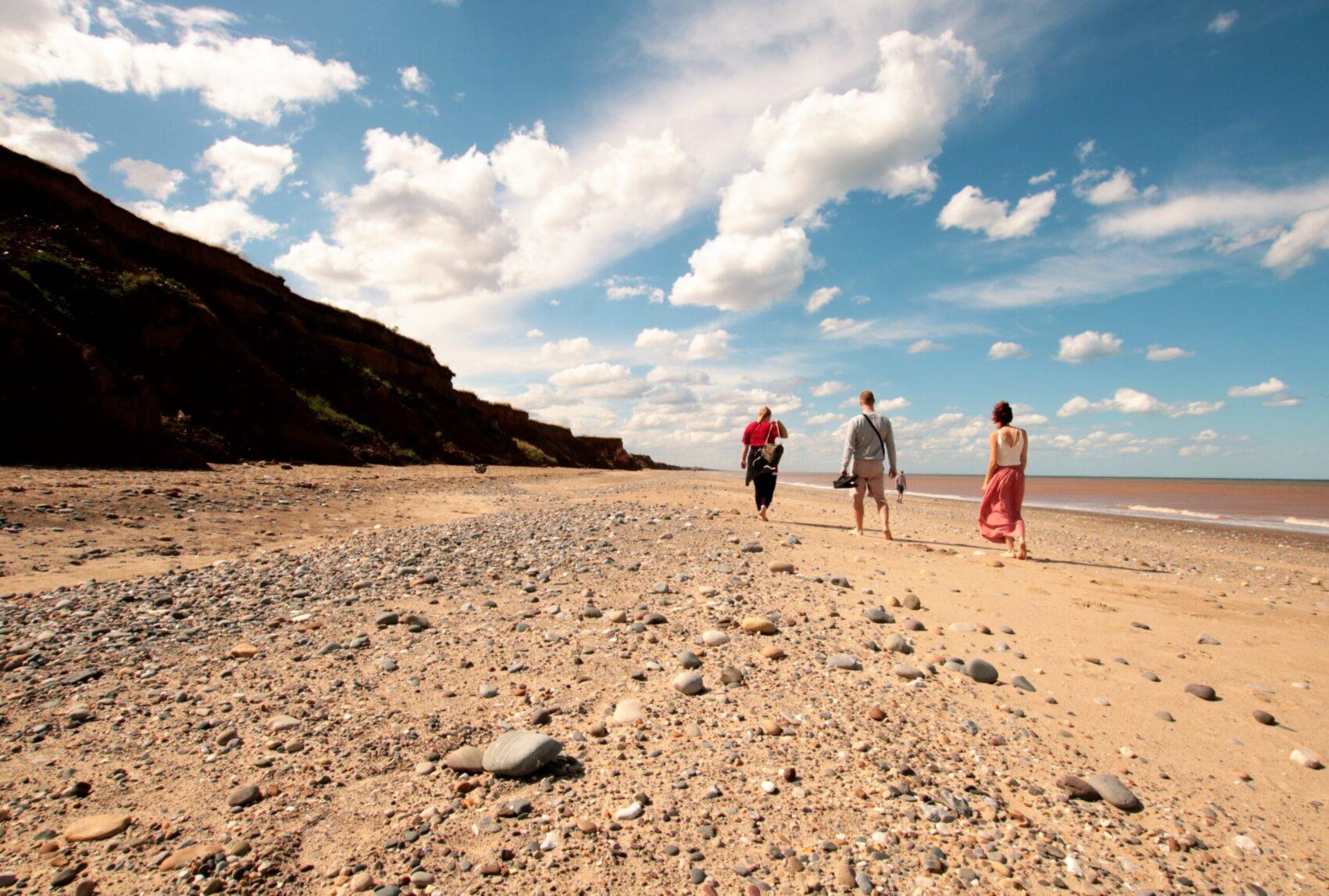 Spacer wzdłuż plaży - Withernsea